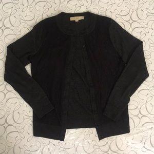 LOFT | Lace Button Front Cardigan S